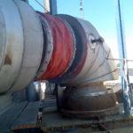 PFM-Kompensator mit Vorisolation in einer Heißgasleitung