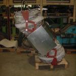 Kompensator - Scheren - Kombination. 700 mm Versatz bei 450°C