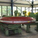 Kompensator-Unit mit Leitblech aus verschleißfestem Stahl, ø 3800 mm