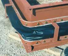 Eckradius bei eckiger Bandform (Bauform 05) zur Erhöhung der Dichtigkeit.